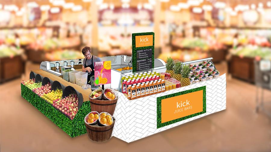 kick juice bar kiosk
